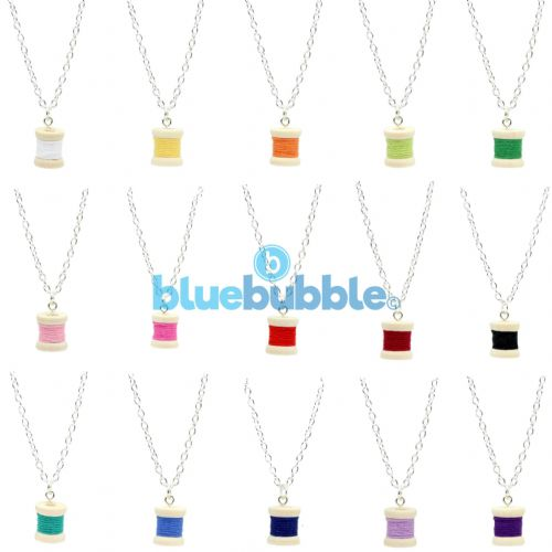 Bluebubble SEW SWEET Bobbin Cotton Reel Necklace With FREE Gift Box